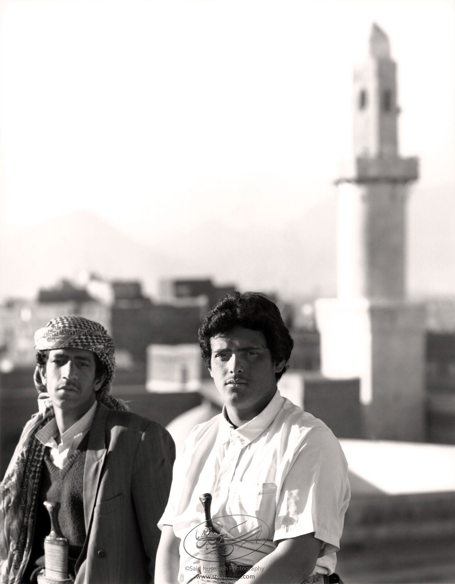 <i>Jami' al-Kabîr</i> minaret in background. Old City Sana'a,